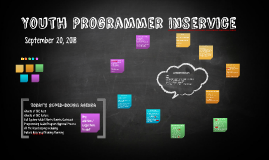 Youth Programmer Inservice
