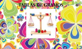 TABLAS DE GRAMOS