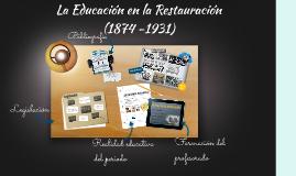 La Educación Primaria de 1874 a 1931
