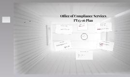 Compliance Services FY15-16 Plan White Album Version