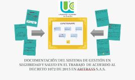 DOCUMENTACIÓN DEL SISTEMA DE GESTIÓN DE SEGURIDAD Y SALUD EN