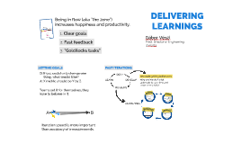 Delivering Learnings