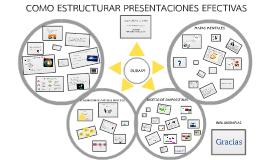 Cómo estructurar presentaciones efectivas