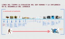LINEA DEL TIEMPO LA EVOLUCION DEL SER HUMANO Y LA INFLUENCIA