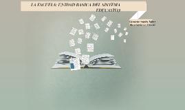 Copy of LA ESCUELA: UNIDAD BASICA DEL SISTEMA EDUCATIVO