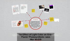 The Effect of Light Color on Green Plants' Photosynthetic ra