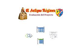 """Evaluación en el Proyecto de Aprendizaje """"El Antiguo Régimen"""