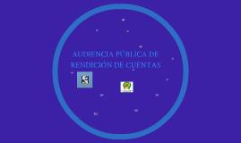 AUDIENCIA PUBLICA DE RENDICION DE CUENTAS