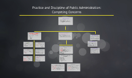 Practice and Discipline of Public Adminstration: Competing C
