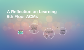 A Refelction on Learning-6th Floor ACMs