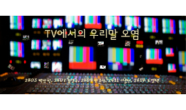 TV에서의 우리말 오염