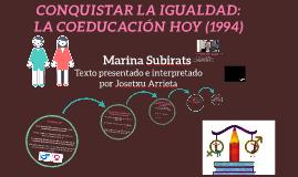 Coeducación, hoy. Marina Subirats