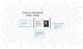 Tessie A. Cleveland