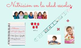 Nutrición en la edad escolar