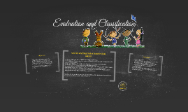 Evaluation and Classification