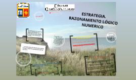 Copy of Estrategias. Razonamiento lógico numérico