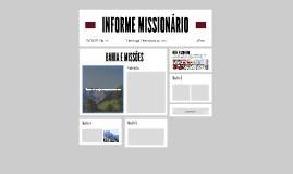 INFORME MISSIONÁRIO