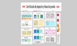 Certificado de deposito y