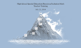High School Special Education/Resource/Inclusion Math Teache
