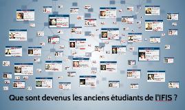 Présentation anciens étudiants - 20 ans IFIS