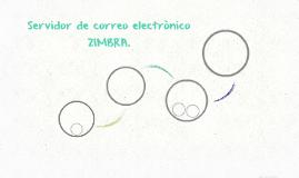Servidor de correo electrònico ZIMBRA.