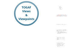 TOGAF - Views and Viewpoints