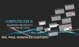 07. Seguimiento de Proyecto y análisis de costo