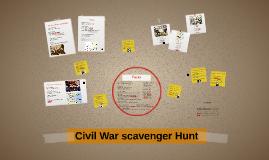 Civil War scavenger Hunt