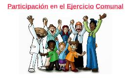 8. Participación en el Ejercicio Comunal
