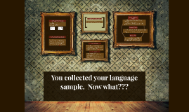 You collected your language sample.  Now what???