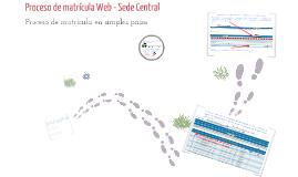 Matrícula Web