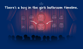There's a boy in the girls bathroom timeline.