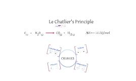 Le Chatlier's Principle