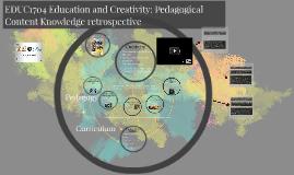 EDUC1704 Creativity and the Arts across the curriculum