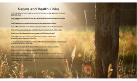 Nature and Health Links