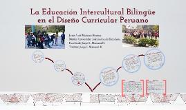 La EIB en el diseño curricular peruano