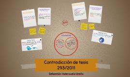 Contradicción de tesis 293/2011