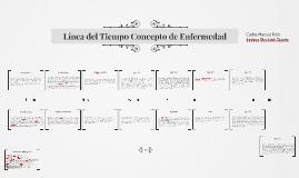 Copy of Línea del Tiempo Concepto de Enfermedad