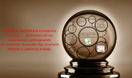 Copy of Unidad 6: Factibilidad económica