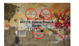 ANT176: Culture, Power, & Gender
