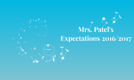 Expectations 2015/2016
