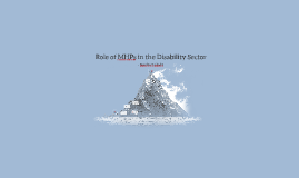 Role of MHPs in the Disability Sector