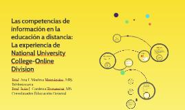 las competencias de información en la educación a distancia