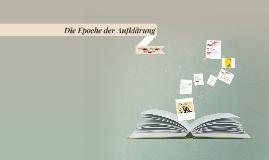 Copy of Die literarische Epoche der Aufklärung