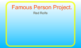 Famous Persons Project.