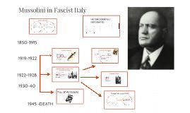 Mussolini in Fascist Italy