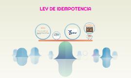 LEY DE IDEMPOTENCIA