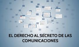 EL DERECHO AL SECRETO DE LAS COMUNICACIONES