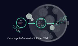 L'histroire de la pub des années 1980 à 2000
