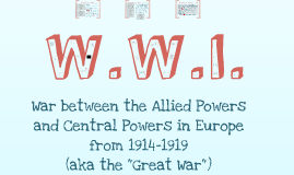 APWH- World War I